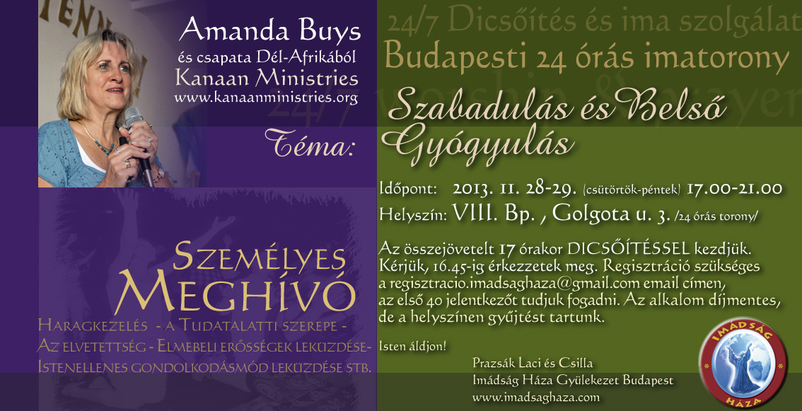 Deliverance And Inner Healing Seminar, Budapest, Hungary